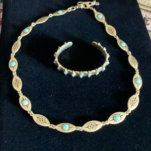 🍀Lucky Brand turquoise necklace and bracelet